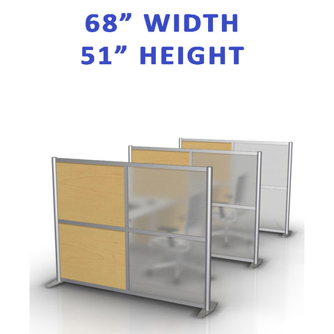 "68"" width by 51"" height office partitions products collection"