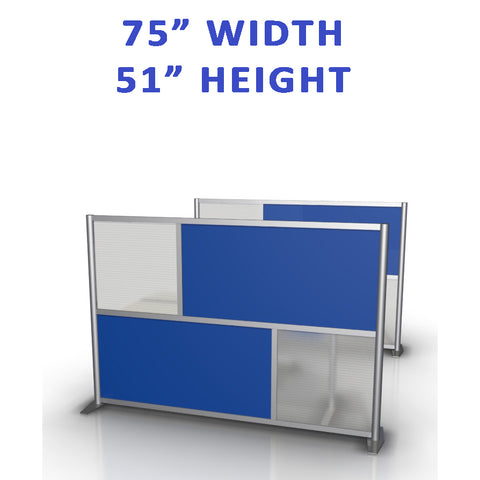 "75"" width by 51"" height office partitions products collection"