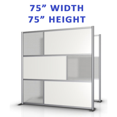 "75"" width by 75"" height office partitions products collection"