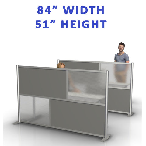 "84"" width by 51"" height office partitions products collection"