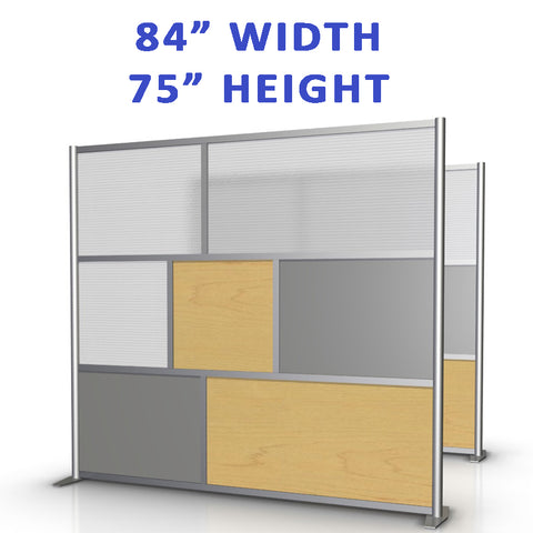 "84"" width by 75"" height office partitions products collection"