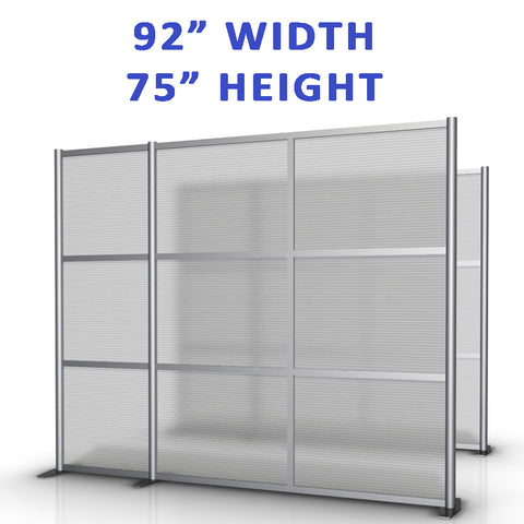"92"" width by 75"" height office partitions products collection"