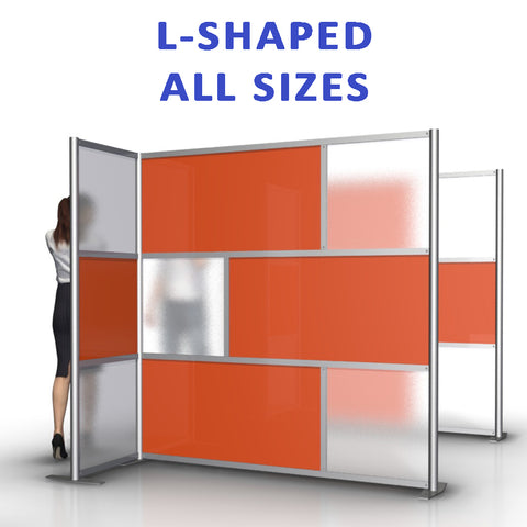L-Shaped office partitions products collection