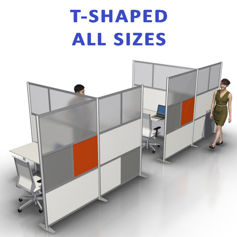 T-Shaped office partitions products collection