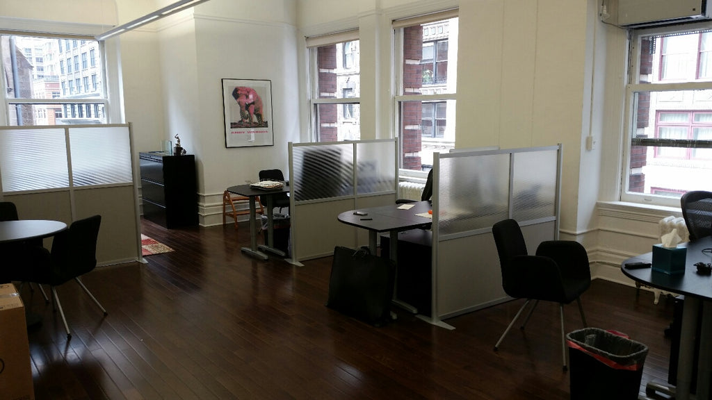 Modern Office Partitions at The SGNY Group in New York City.  iDivide Modern Room Partitions, Office Dividers, and Room Dividers. Use for office cubicle panels & privacy screens.
