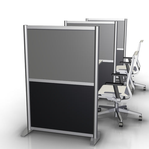 "35"" wide by 51"" high modern modular office desk divider partition"