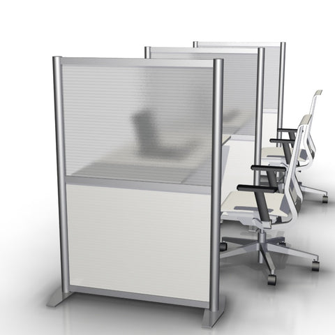 "35"" wide by 4'-3"" high modern office desk divider partition"