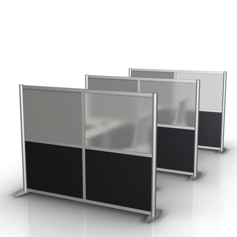 "Modern Desk Divider Office Partition, 75"" width by 51"" height"