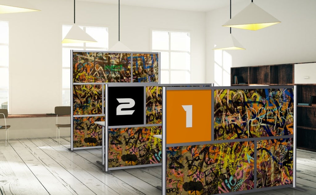 Graffiti Art Office Partitions and Walls by iDivide