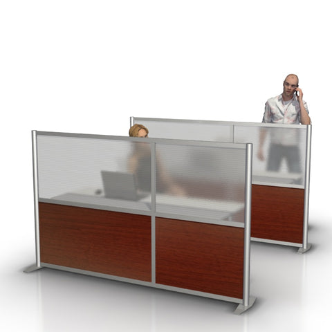 "modern office desk divider partition 84"" wide by 51"" high"