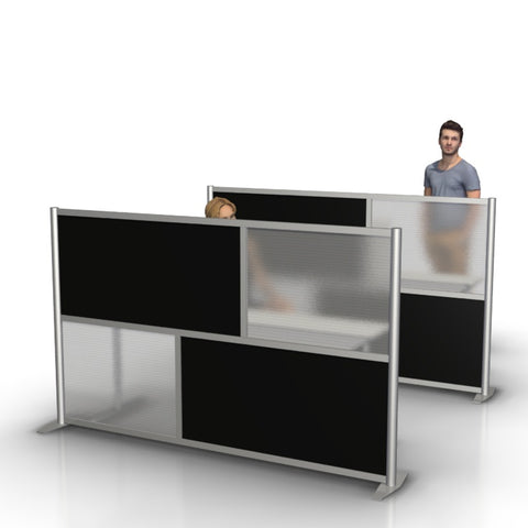 "Modern Office Desk Divider Privacy Partition 84"" length"