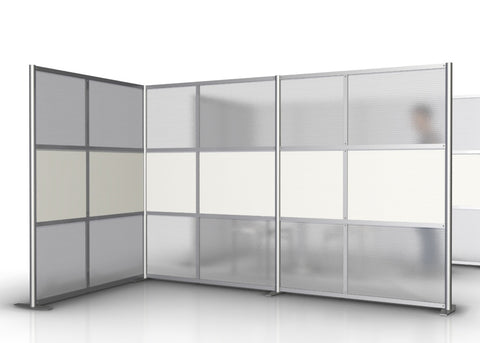"L-Shaped Office Partition and Room Divider Wall 9'-10"" by  5'-0"""