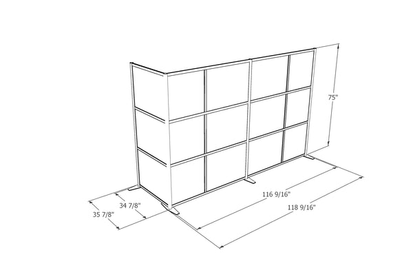modern office room partition