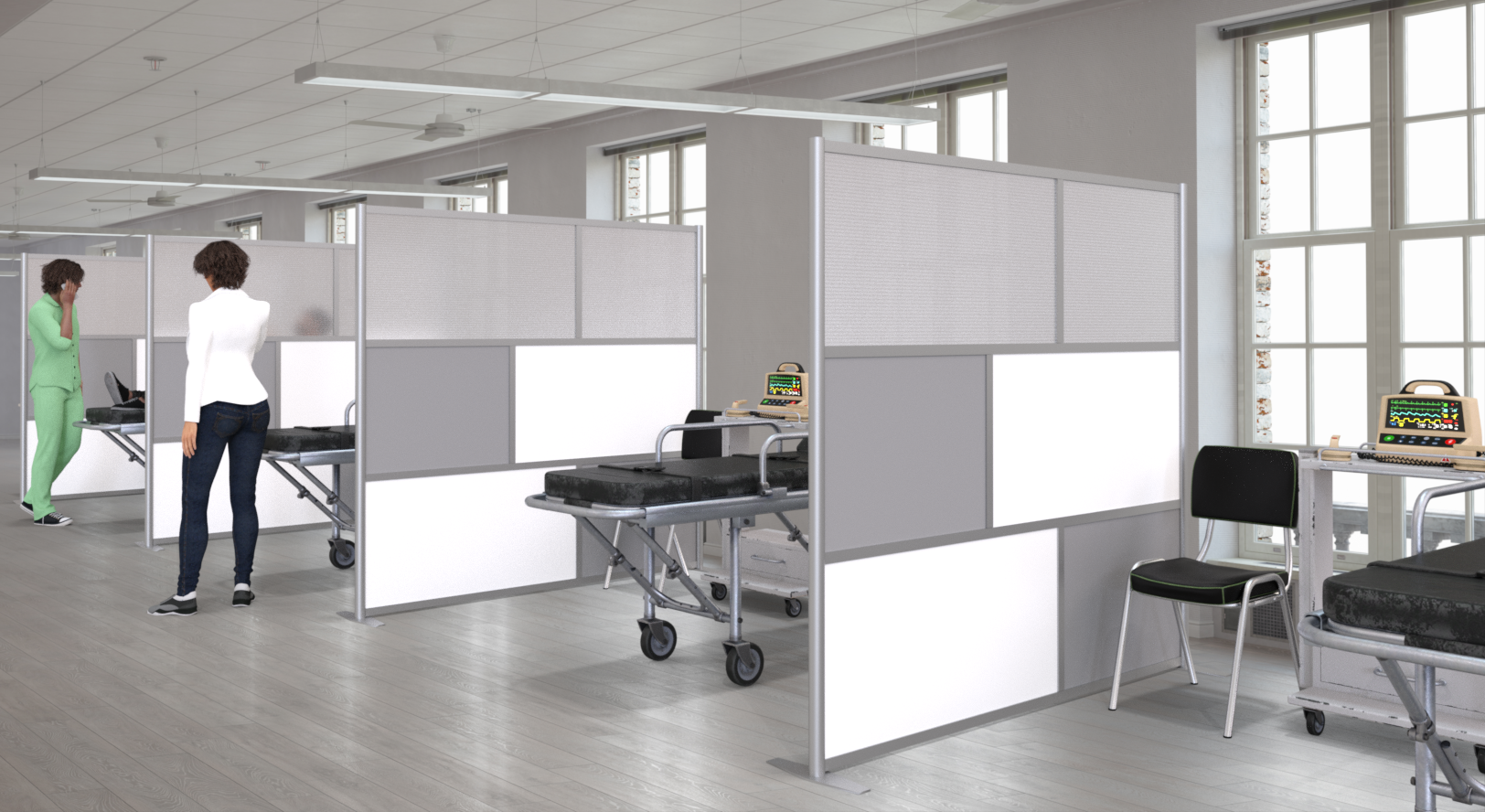 Portable Temporary Emergency Hospital Room Partition Walls