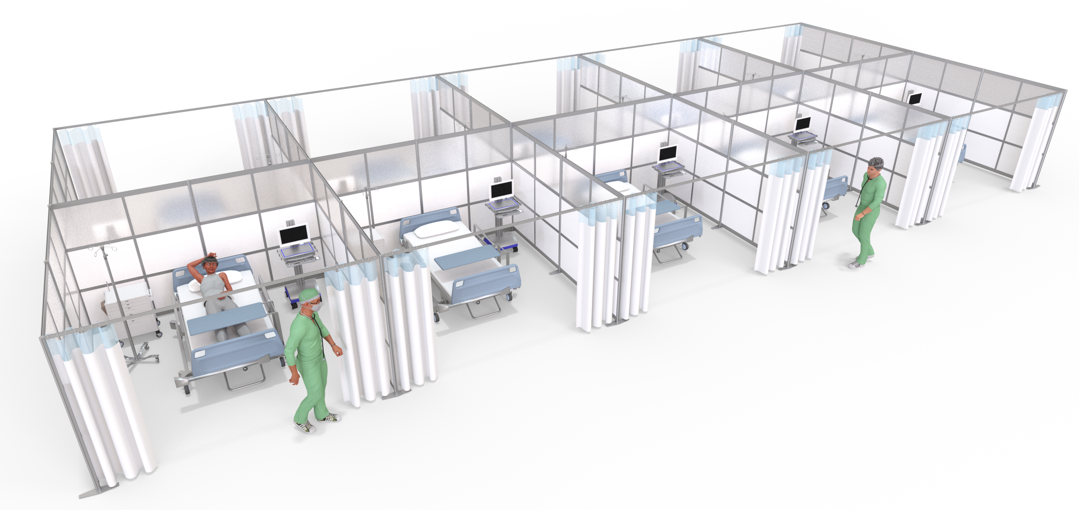 Healthcare Medical Room Partitions & Walls