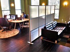 Modern elegant translucent office partition with a cool vibe