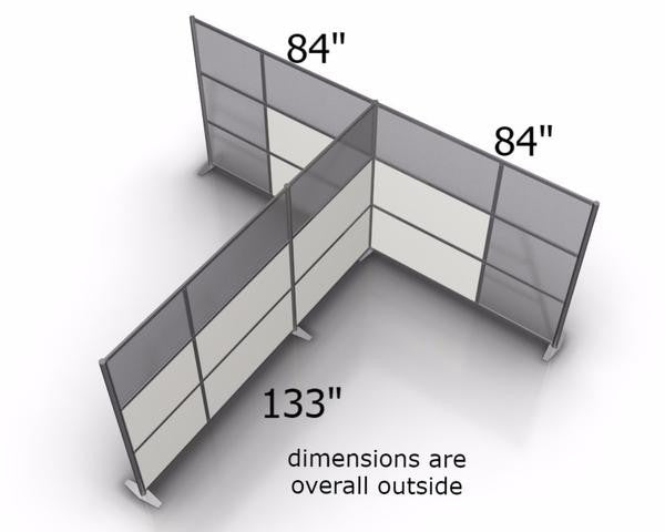 T-Shaped Office Partitions Dimensions