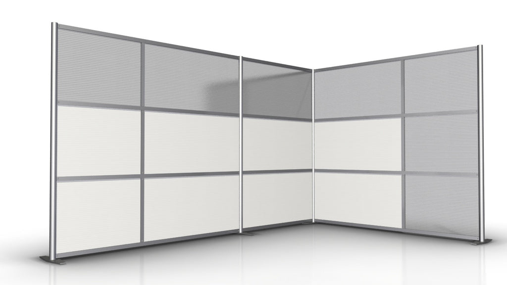 "T-Shaped Office Partition 133"" x 84"" x 84"""