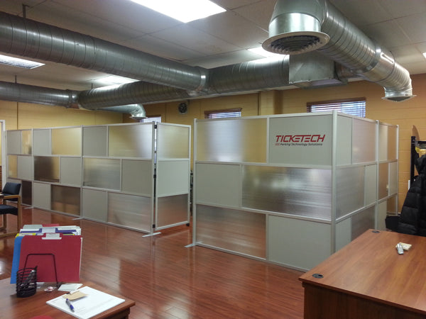 Idivide room partitions at ticketech offices for Office dividers modern