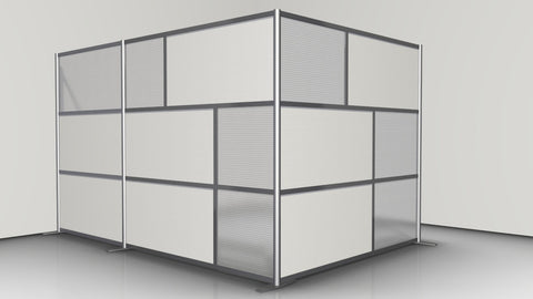 L-Shaped Office Partition, 124