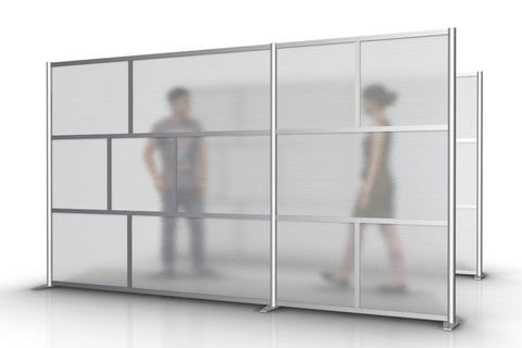 84 wide x 75 high Office Partition White Translucent Divider Wall