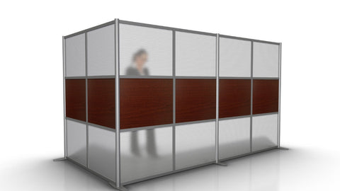 L-Shaped Room Divider Wall - 133