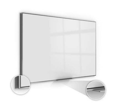 Ghent Manufacturing SIO48AM 47.62 x 95.62 in. Premium Aluminum Frame Simplicity Magnetic High Performance Acrylite Surface Whiteboard