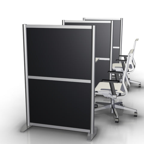 Black Matte Laminate Panel Office Desk Divider Partition