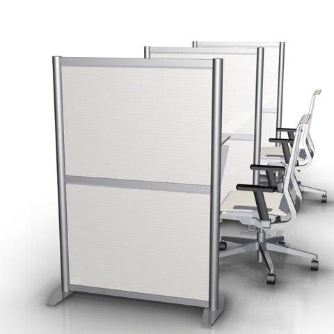 White Twin Wall Panel Office Desk Divider Partition