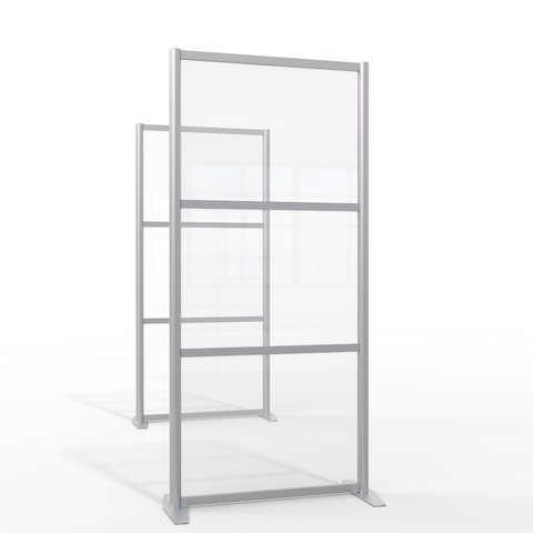 CLEAR PLEXIGLAS ROOM PARTITION & PORTABLE FREESTANDING ROOM DIVIDER