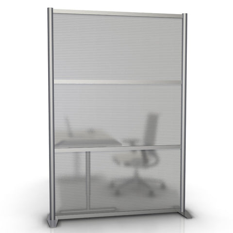 Modern Office Partition 51 inch wide by 75 inch high model # SW5175-5, Translucent Panels