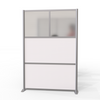 Modern Office Partition 51 inch wide by 75 inch high model # SW5175-6, White & Translucent