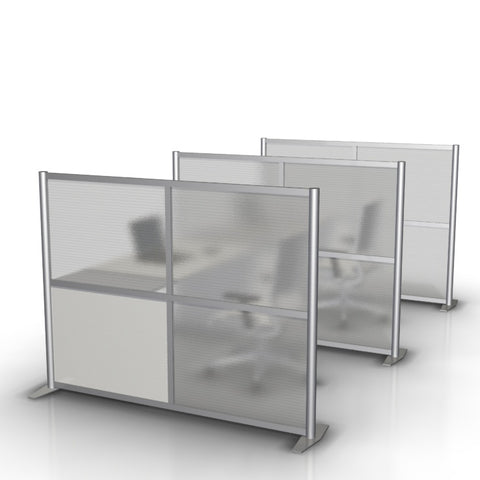 Office Partition, Translucent & White Panels, 68