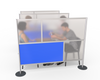 Room Divider Partition, Blue & Translucent 75