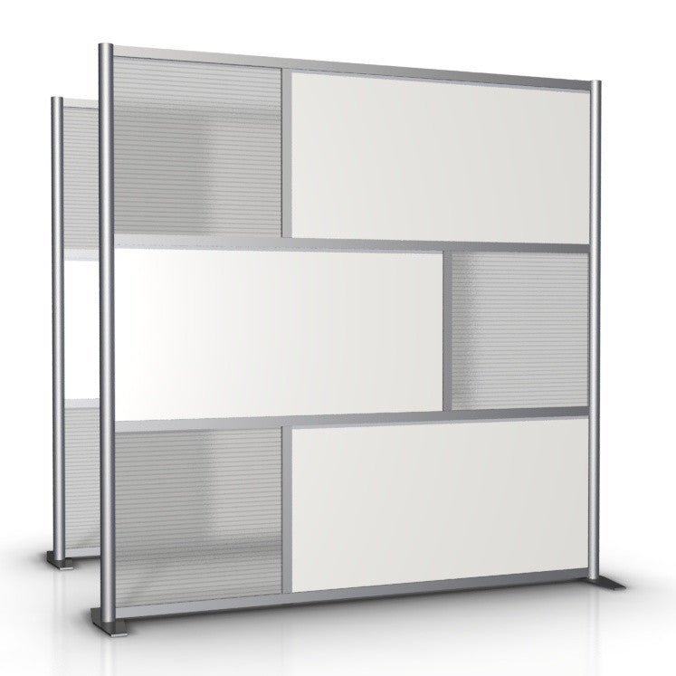 75 wide x 75 high Room Divider White Translucent