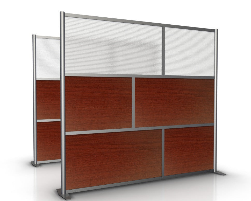 84 wide x 75 high Room Divider Cherry Translucent