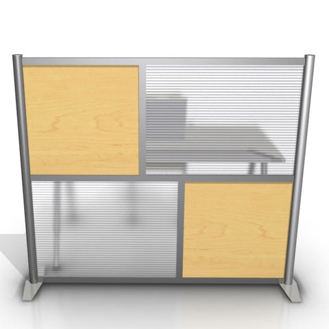 Modern Room Divider & Office Partition SW6051-2 Maple
