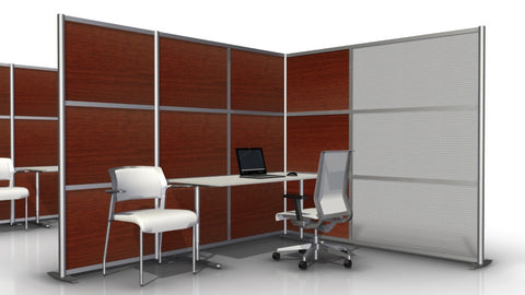 L-Shaped Office Cubicle 100