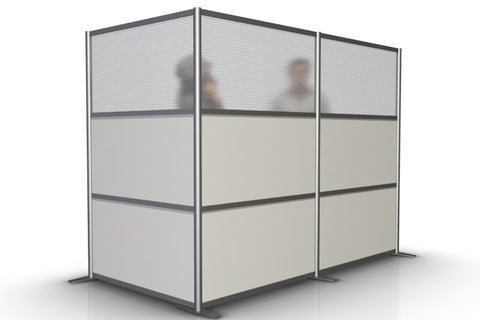 L-Shaped Office Room Partition - 100