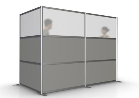 L-Shaped Office Partition 100