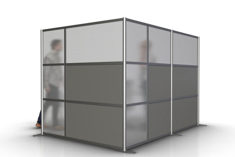 L-Shaped Office Partition 109