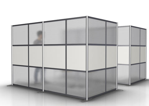 L-Shaped Office Partition 118