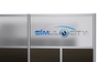 Custom Printed Logo Panel - Translucent Hammered Freeze Twin Wall Panel - Large