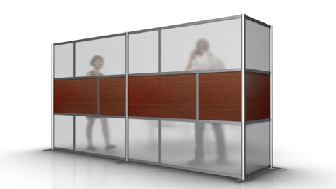 L-Shaped Office Partition 148