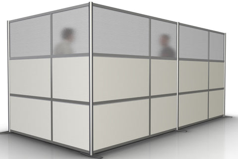 L-Shaped Office Room Partition - 166