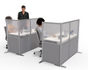 L-Shaped desk divider office partition