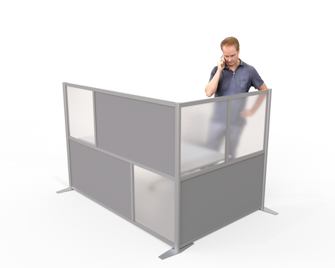 L-Shaped office cubicle partition