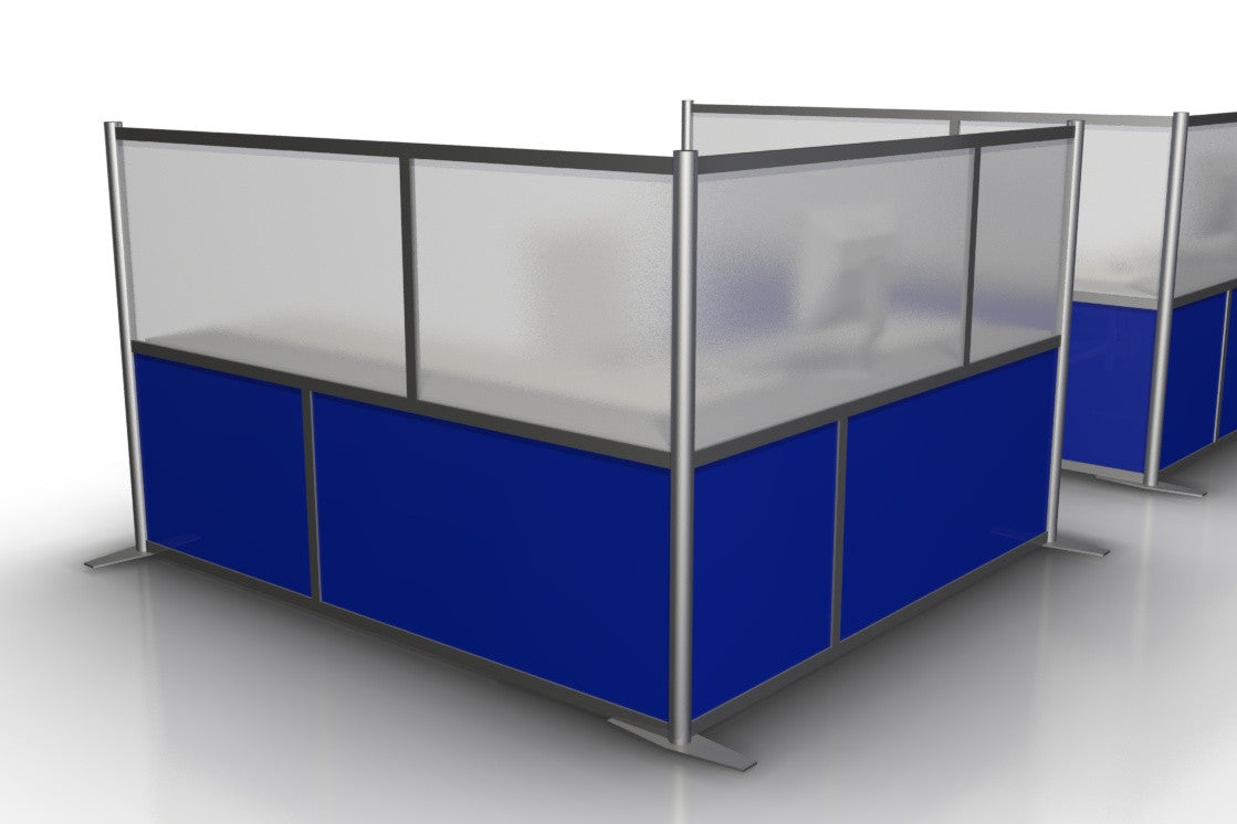 L-Shaped Office Partition 75