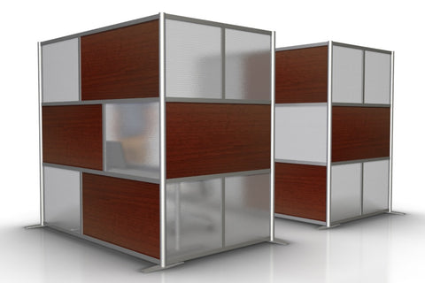 L-Shaped Office Partition 84