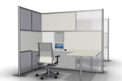 L-Shaped Office Partition - 84